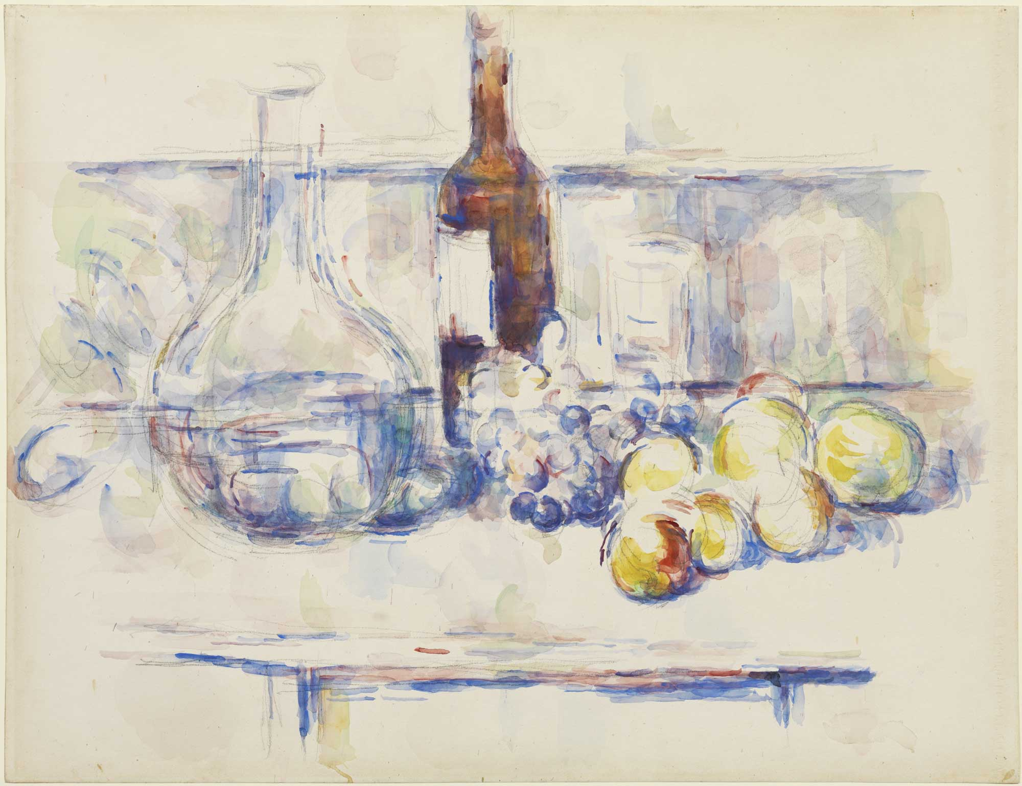 1906_Cezanne_Still_Life_with_Carafe_Bottle_and_Fruit