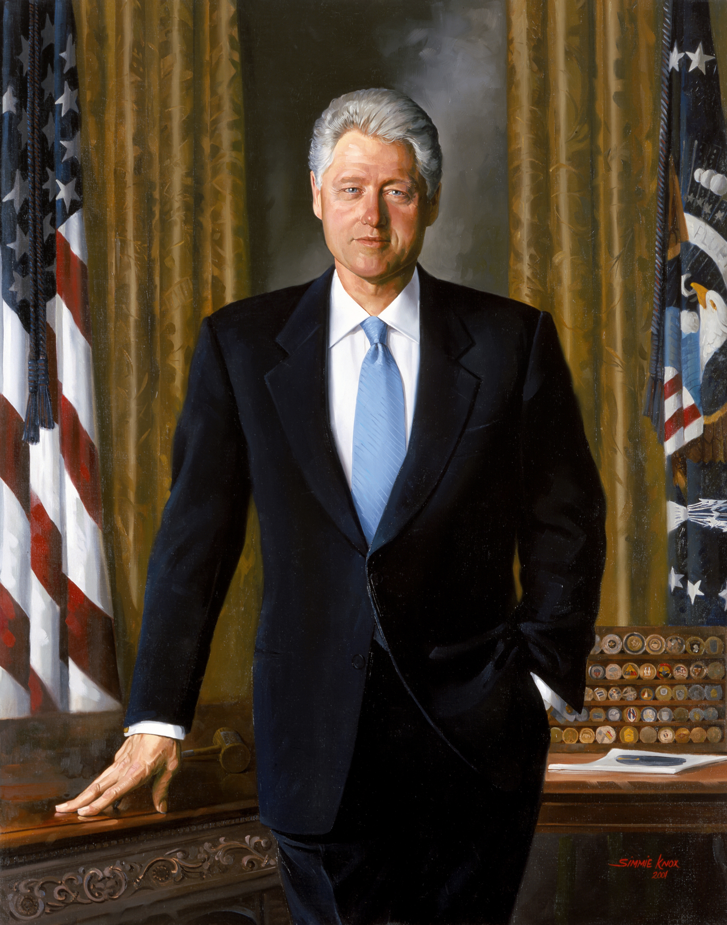 clinton-bill-presidential-portrait