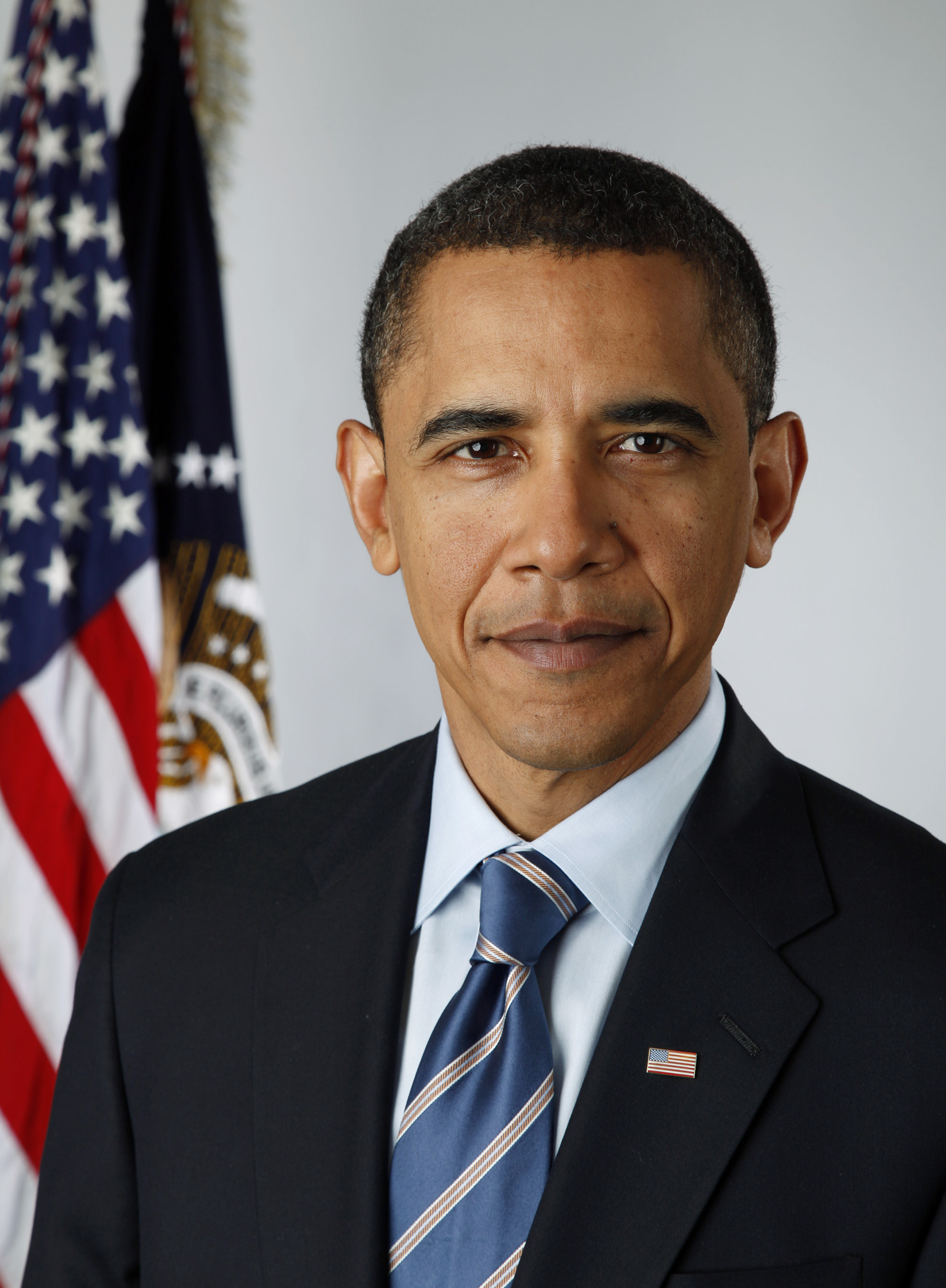 Official portrait of President-elect Barack Obama on Jan. 13, 2009. (Photo by Pete Souza)