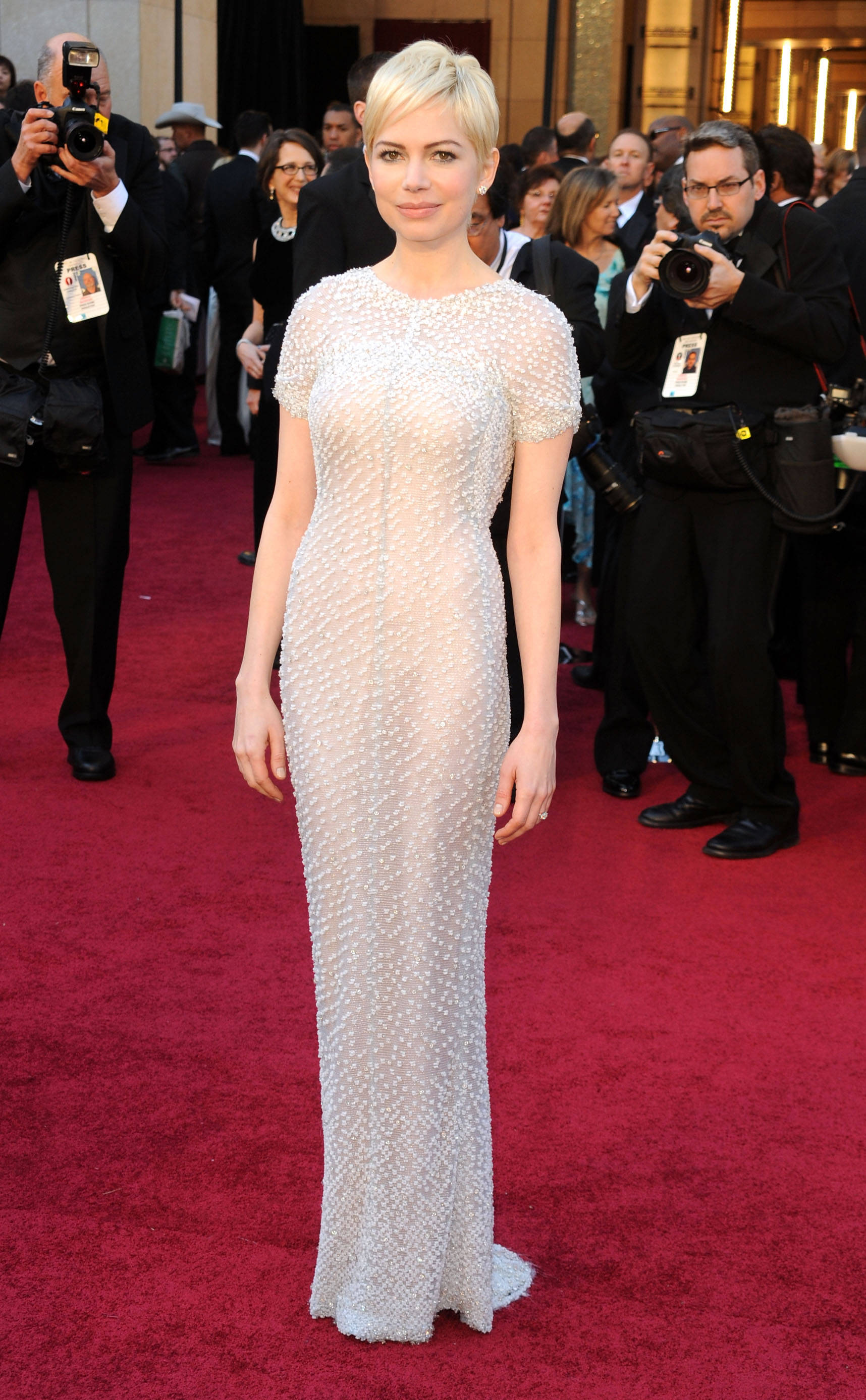 HOLLYWOOD, CA - FEBRUARY 27:  Actress Michelle Williams arrives at the 83rd Annual Academy Awards held at the Kodak Theatre on February 27, 2011 in Hollywood, California.  (Photo by Frazer Harrison/Getty Images)